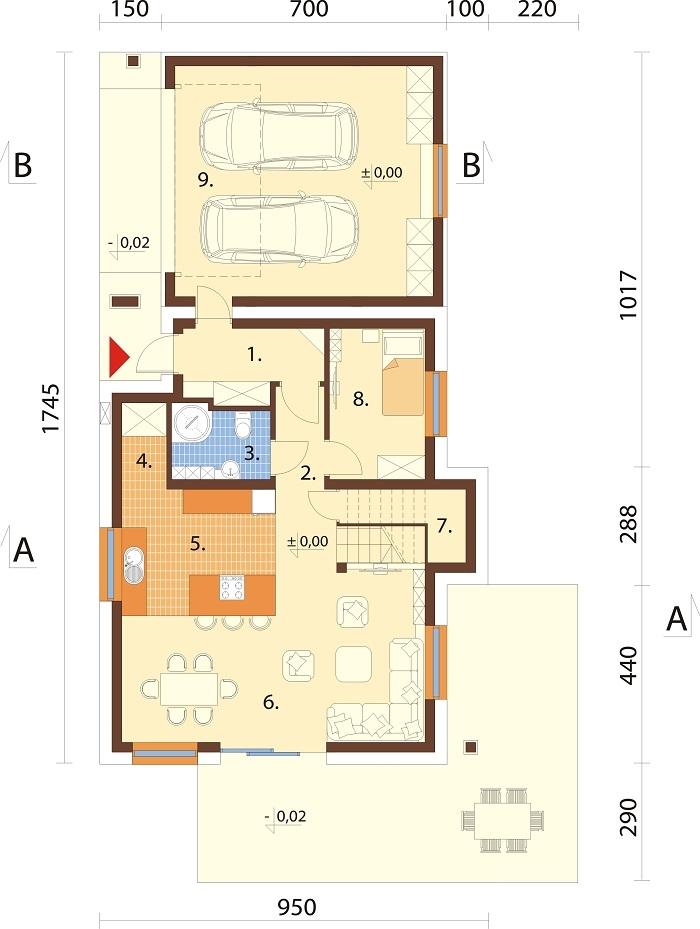 Projekt domu L-6683 - rzut