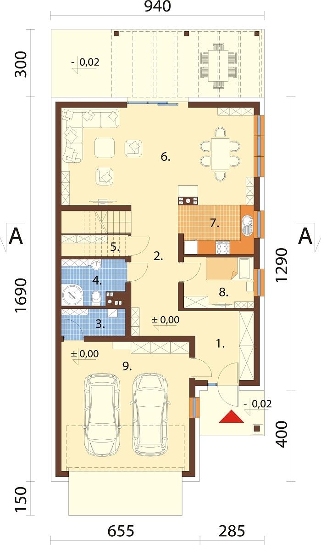 Projekt domu DM-6714 - rzut