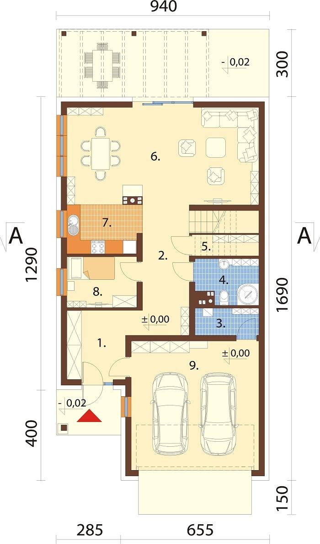Projekt domu L-6714 - rzut