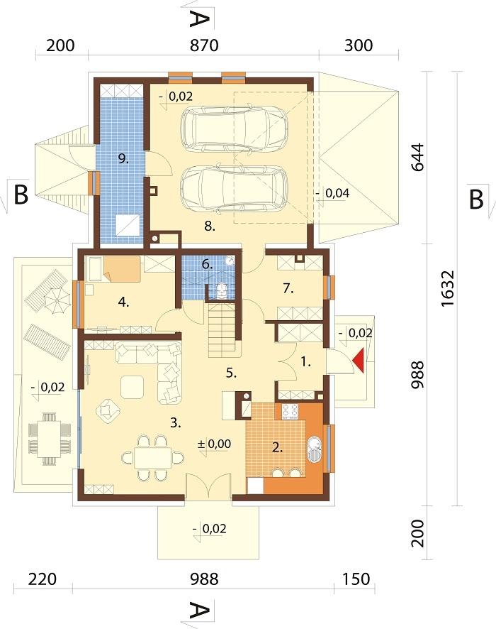 Projekt domu DM-6672 - rzut