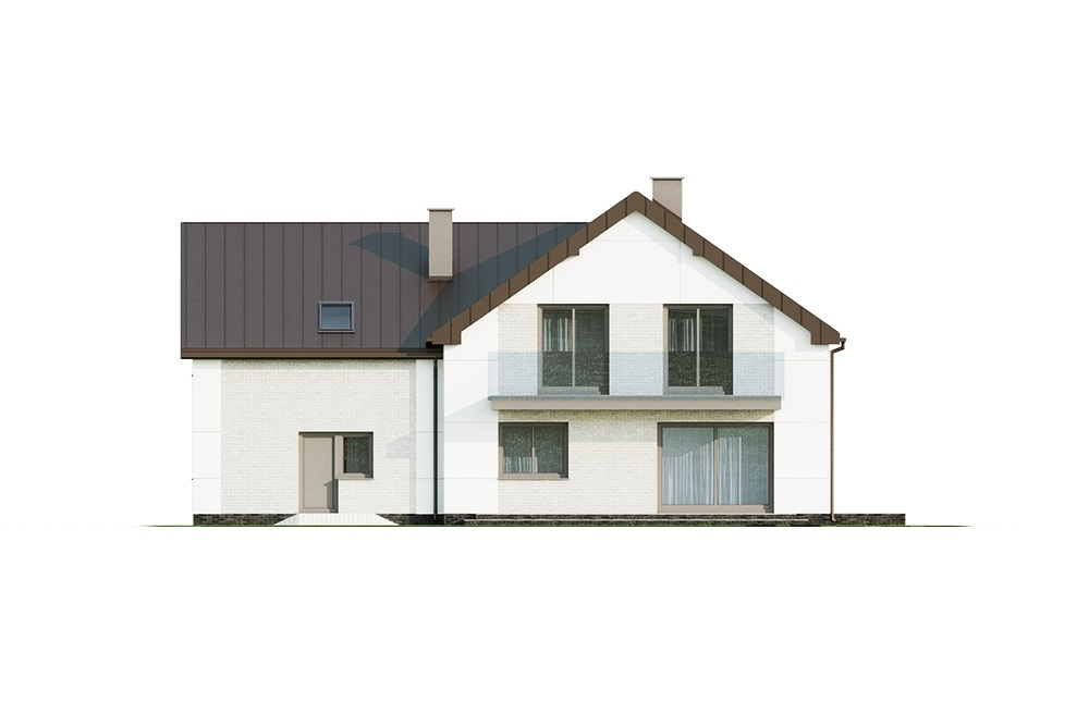 Projekt domu DM-6672 - elewacja