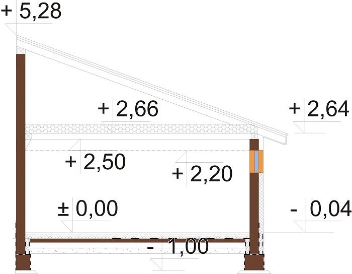 Projekt LZG-112 - przekrój