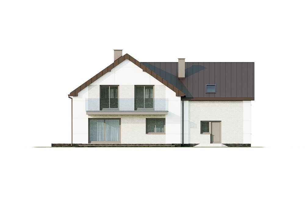 Projekt domu L-6672 - elewacja