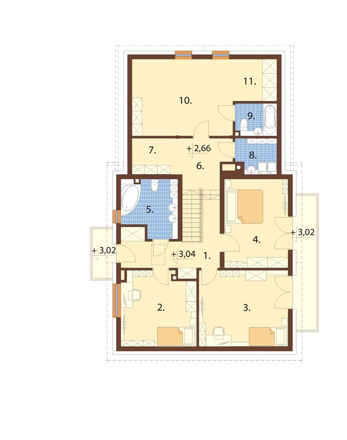 Projekt domu L-6672 - rzut