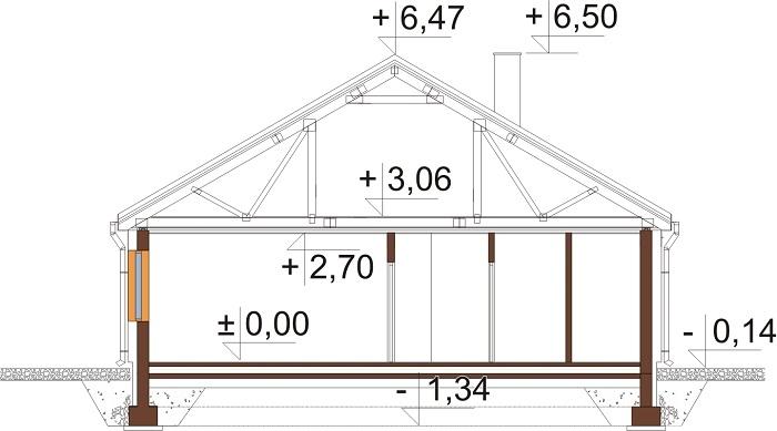 Projekt domu DM-6654 - przekrój