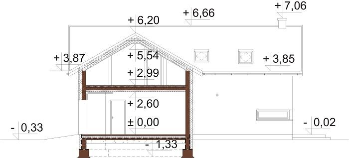 Projekt domu DM-6760 - przekrój