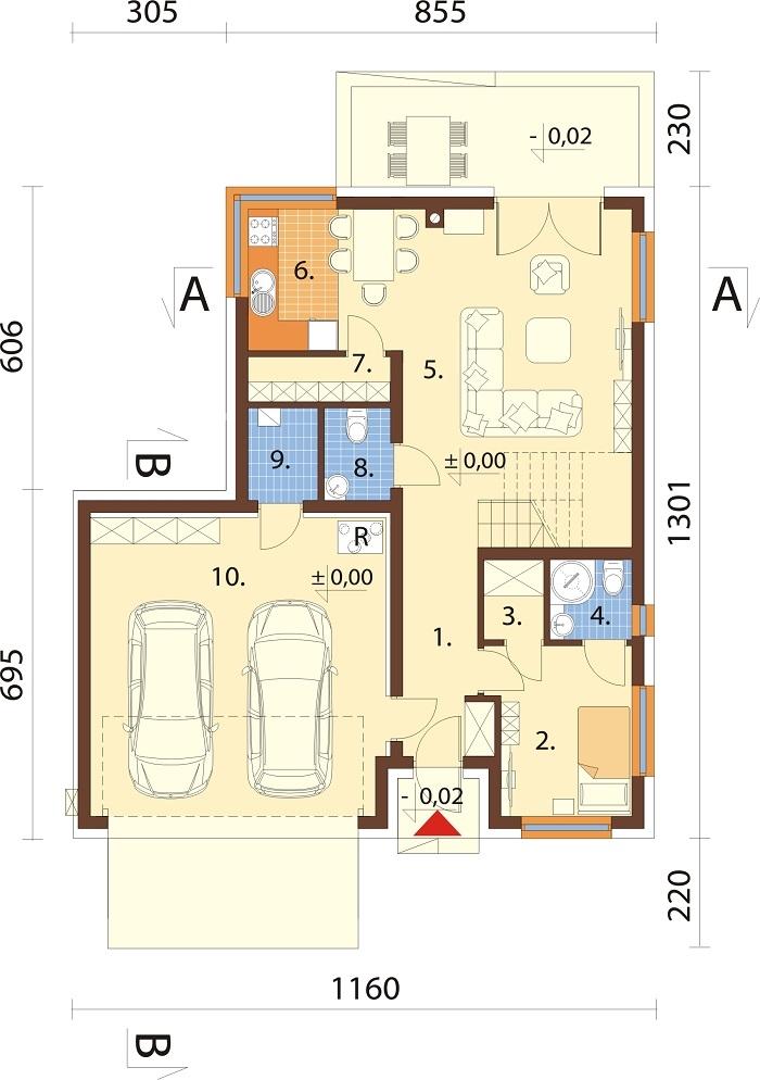 Projekt domu L-6760 - rzut