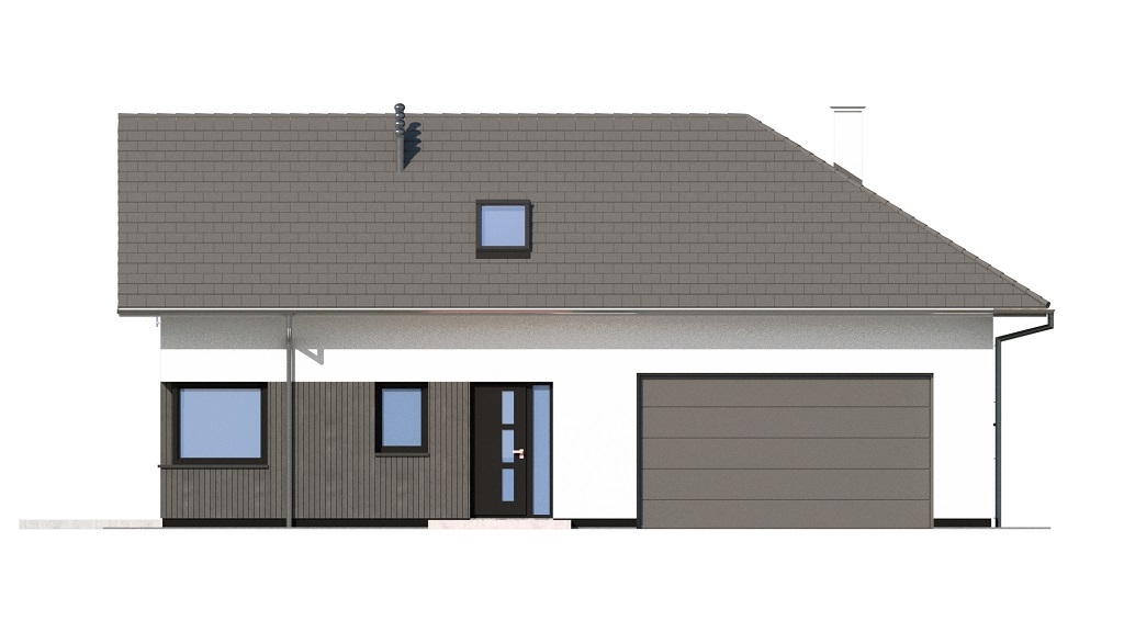 Projekt domu DM-6740 - elewacja