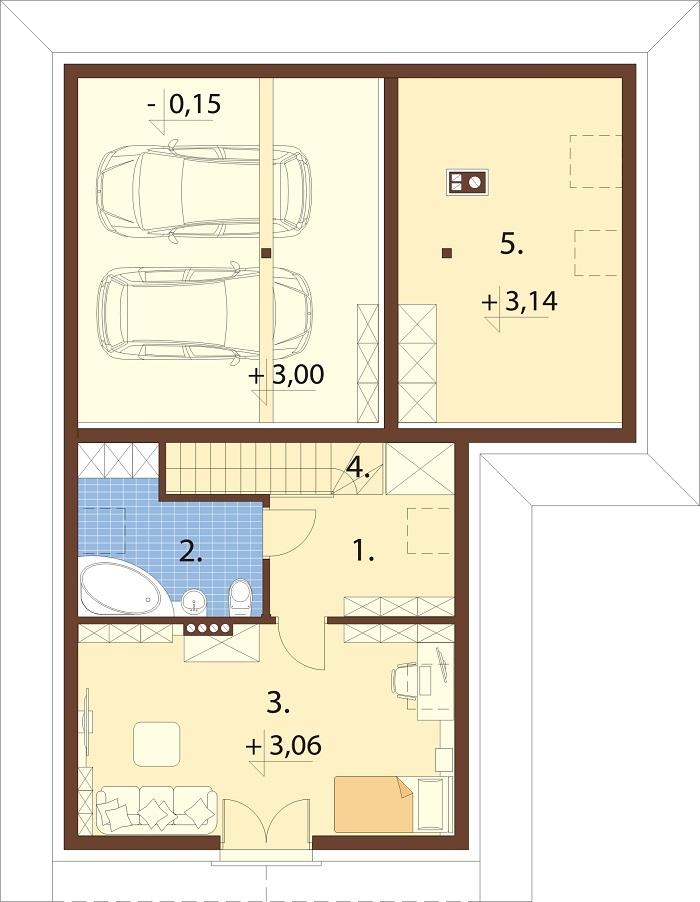 Projekt domu L-6740 - rzut
