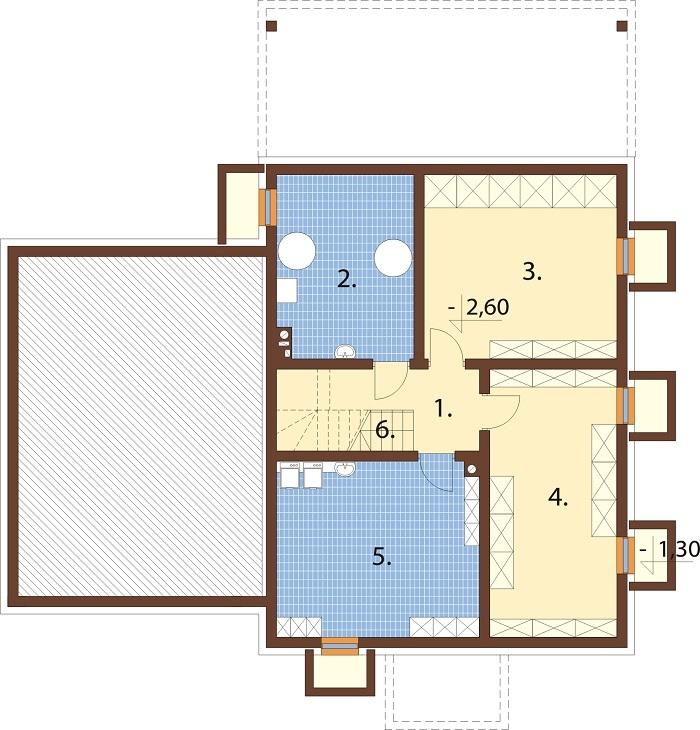 Projekt domu DM-6747 - rzut