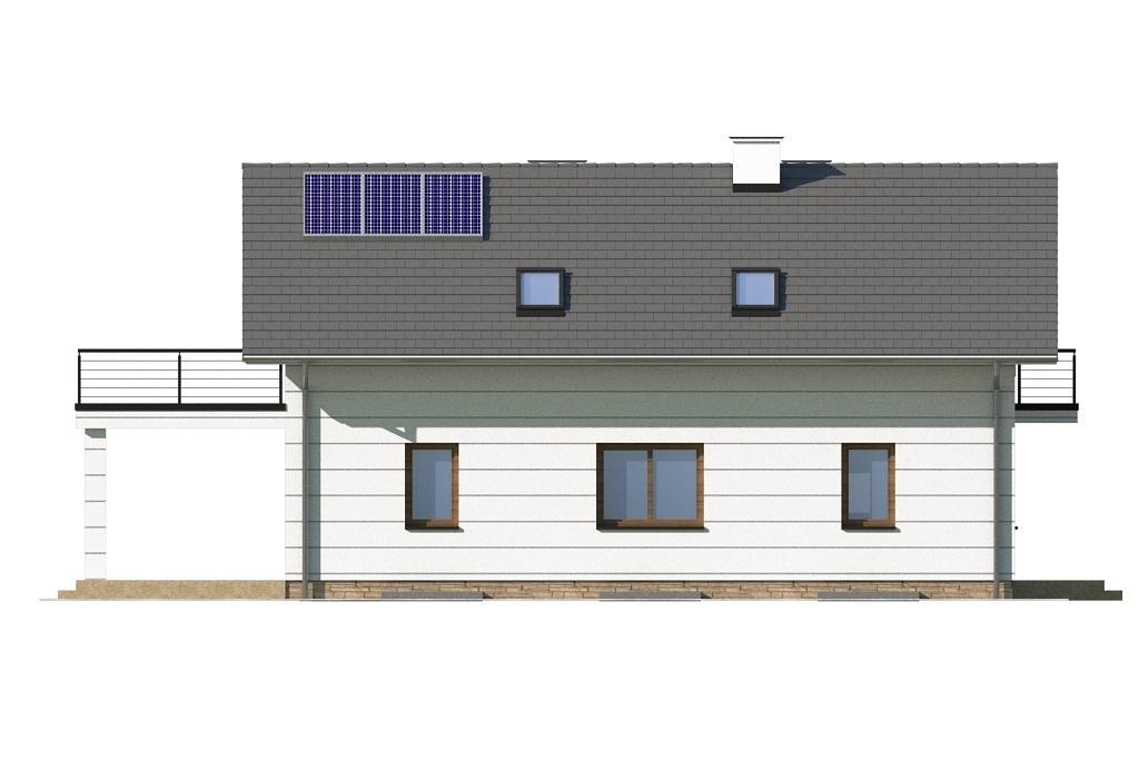 Projekt domu L-6747 - elewacja