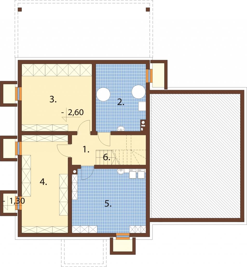 Projekt domu L-6747 - rzut
