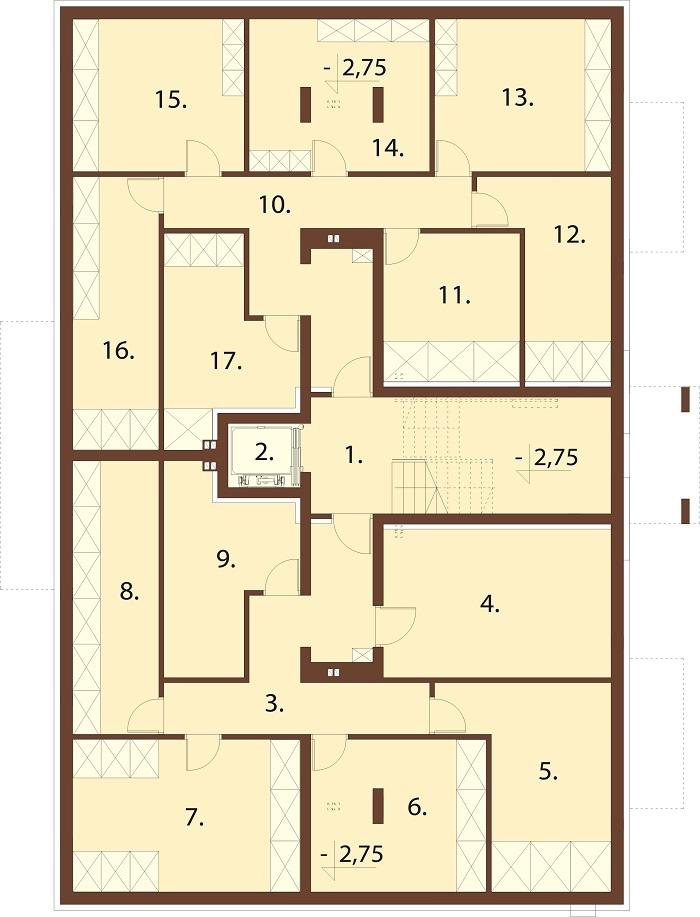 Projekt domu DM-6748 - rzut