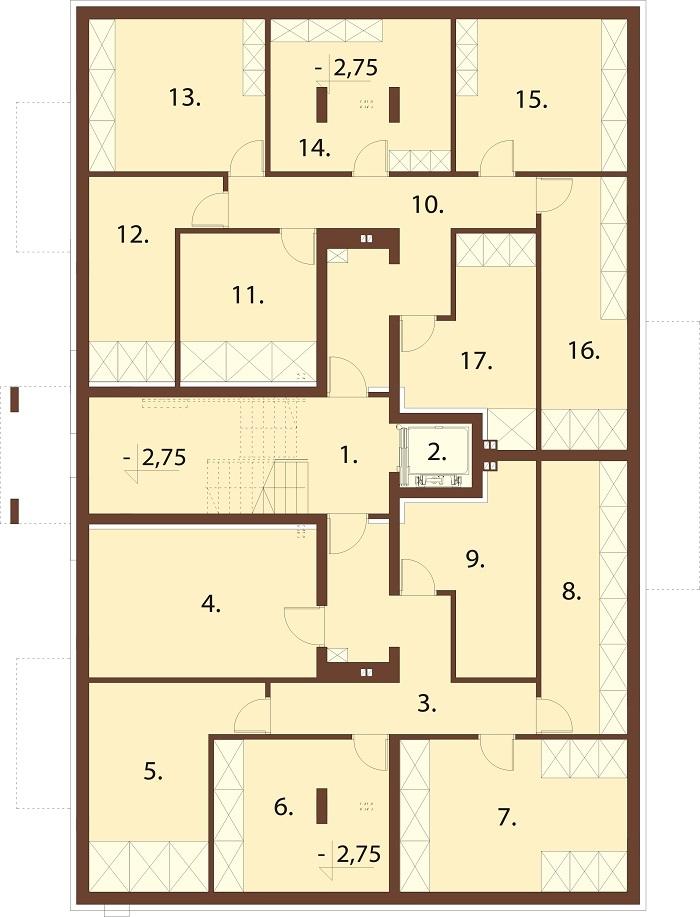 Projekt domu L-6748 - rzut