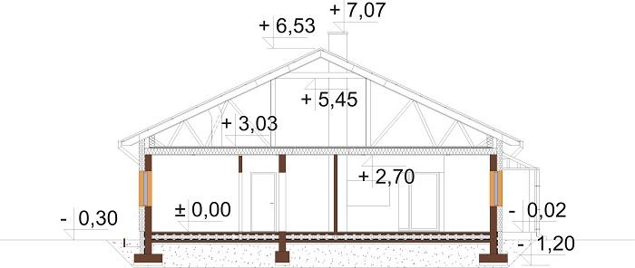 Projekt domu DM-6756 - przekrój