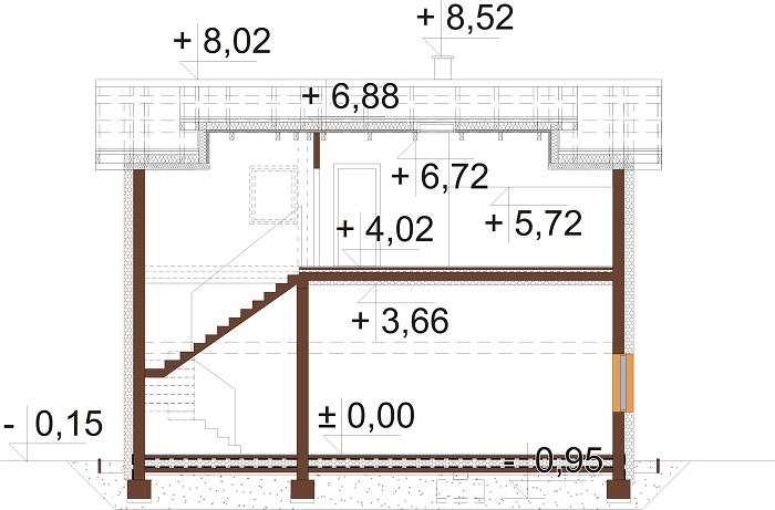 Projekt domu DM-6722 - przekrój
