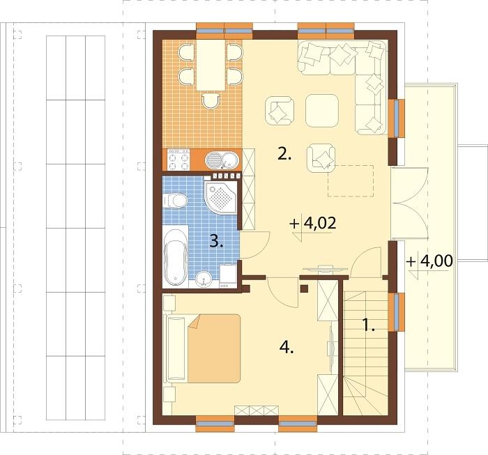 Projekt domu DM-6722 - rzut