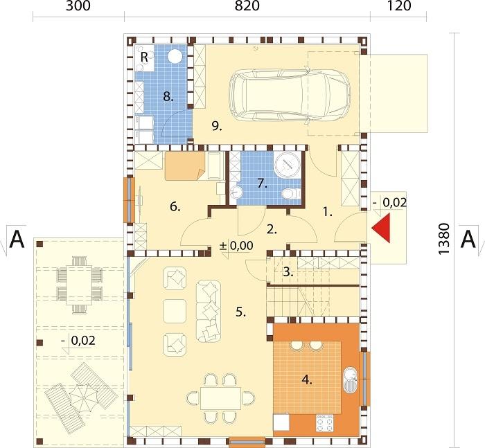 Projekt domu DM-6765 - rzut