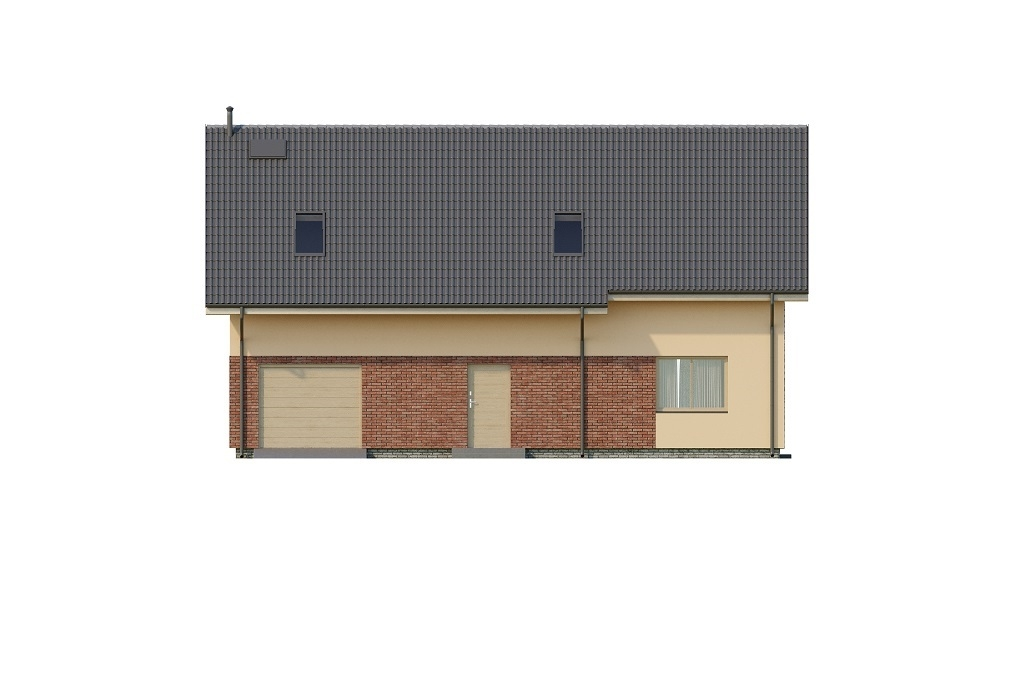 Projekt domu L-6765 - elewacja