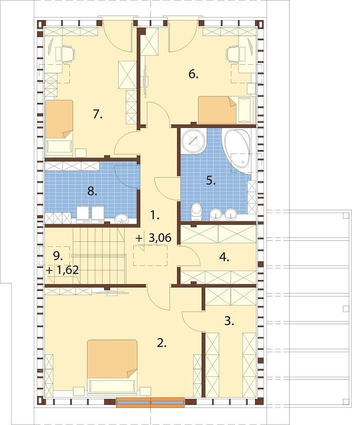 Projekt domu L-6765 - rzut