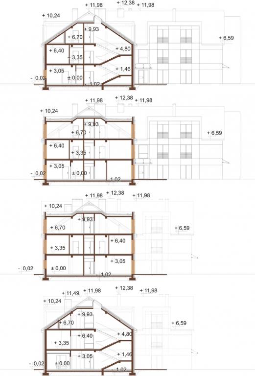 Projekt LK-130 - przekrój