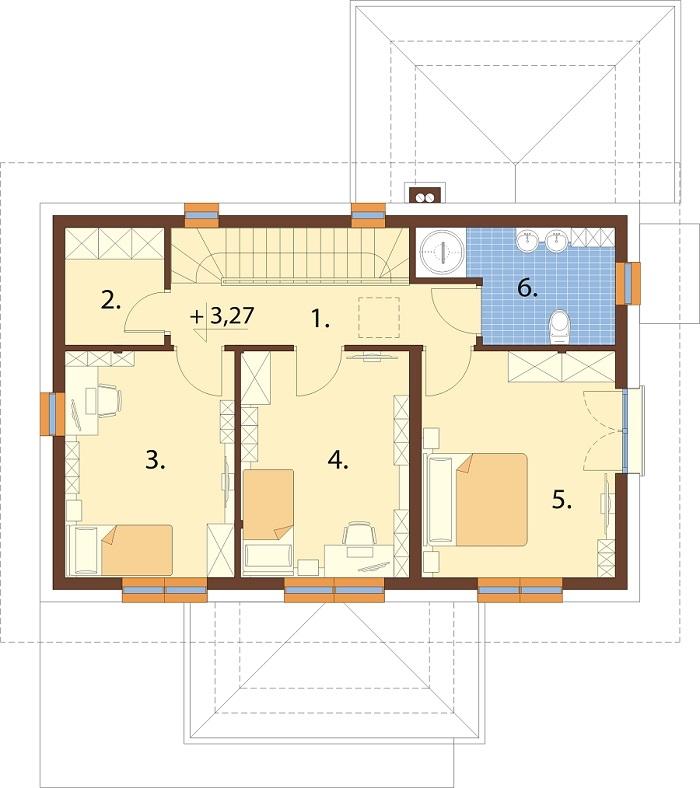 Projekt domu DM-6753 - rzut