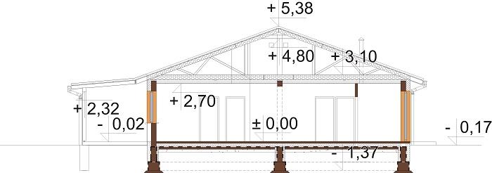 Projekt domu DM-6728 - przekrój