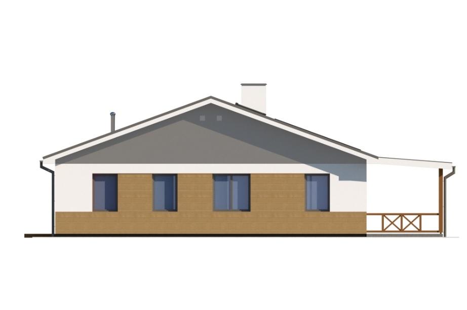 Projekt domu DM-6728 - elewacja