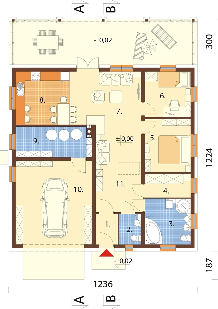 Projekt domu DM-6728 - rzut