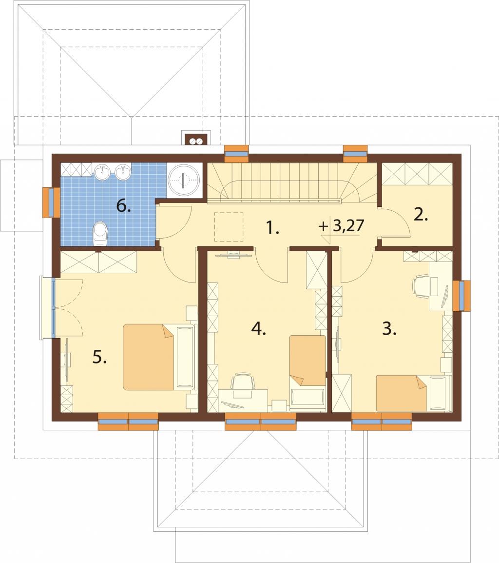 Projekt domu L-6753 - rzut
