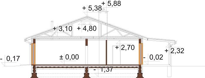 Projekt domu L-6728 - przekrój