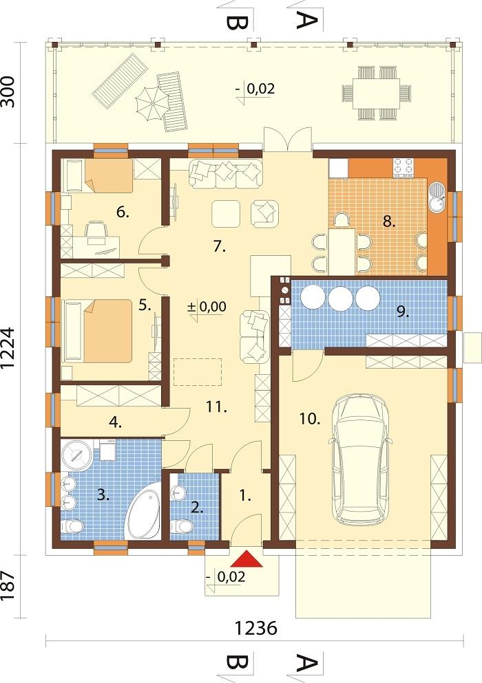 Projekt domu L-6728 - rzut