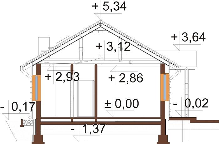 Projekt domu DM-6743 - przekrój
