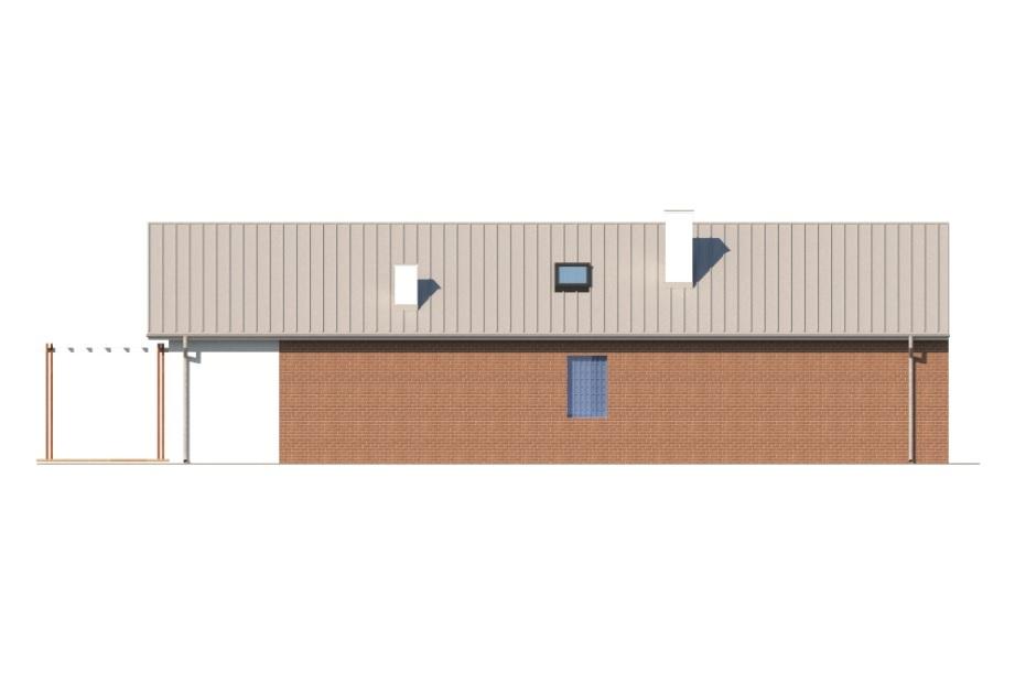 Projekt domu DM-6743 - elewacja