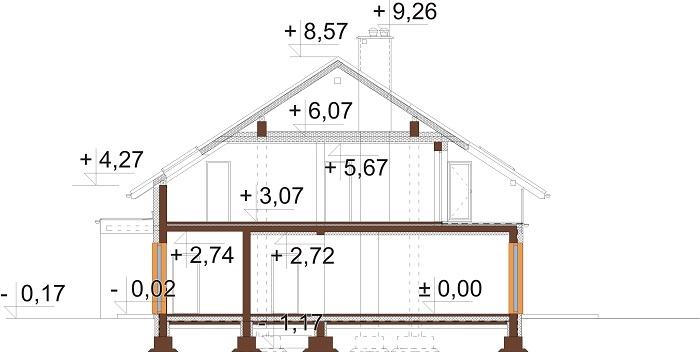 Projekt domu DM-6750 - przekrój
