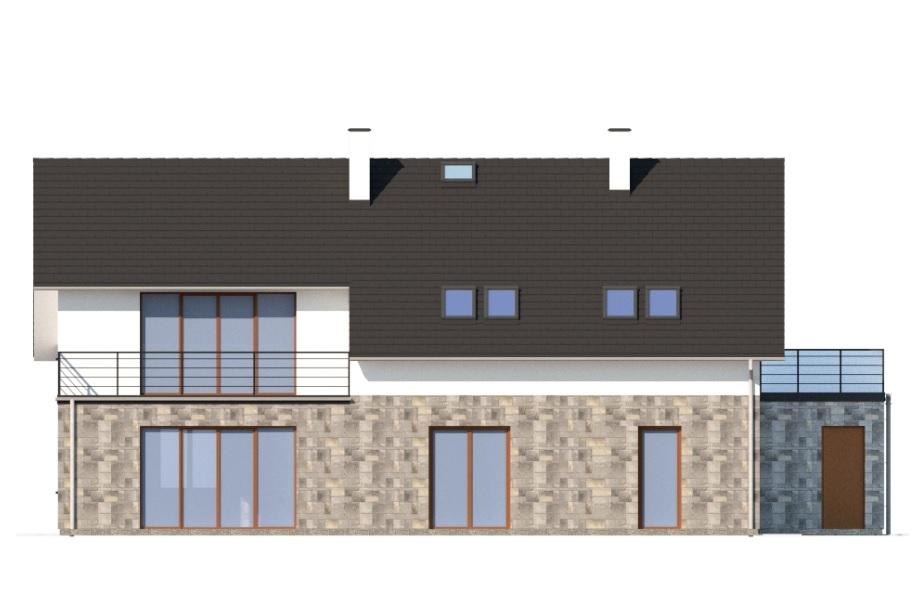 Projekt domu DM-6750 - elewacja