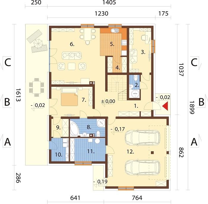 Projekt domu DM-6750 - rzut