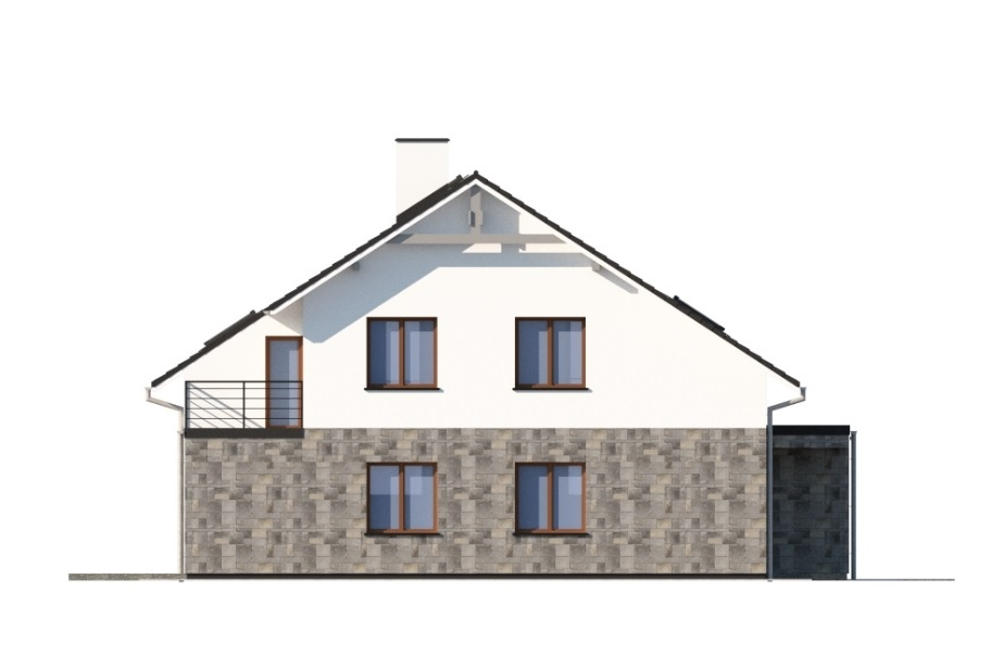Projekt domu L-6750 - elewacja
