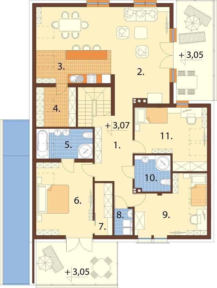Projekt domu L-6750 - rzut