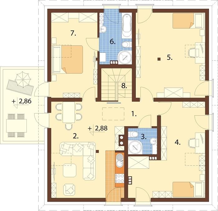 Projekt domu L-6752 - rzut