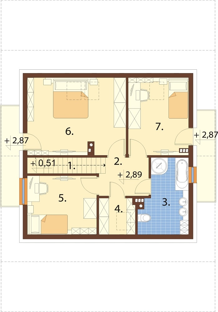Projekt domu DM-6755 - rzut