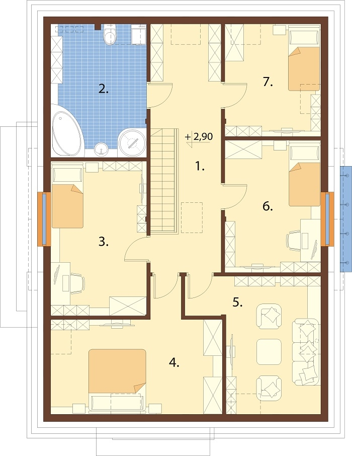 Projekt domu DM-6758 - rzut