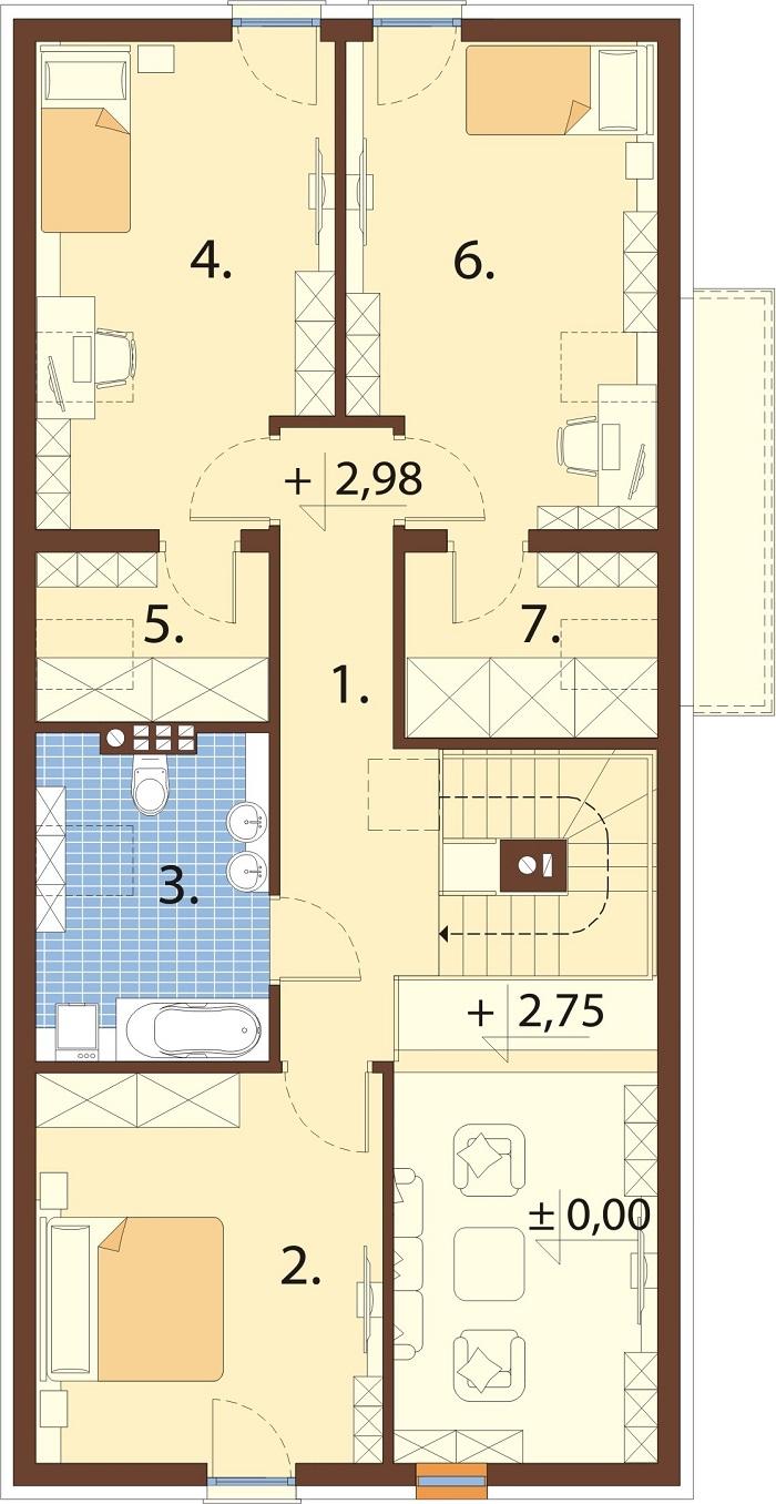 Projekt domu DM-6768 - rzut