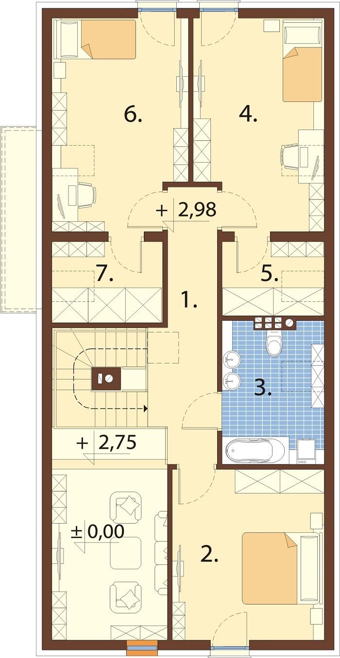 Projekt domu L-6768 - rzut