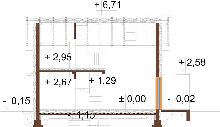 Projekt domu DM-6774 - przekrój