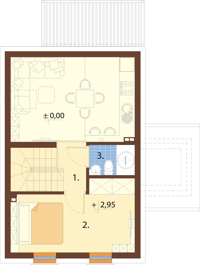 Projekt domu DM-6774 - rzut