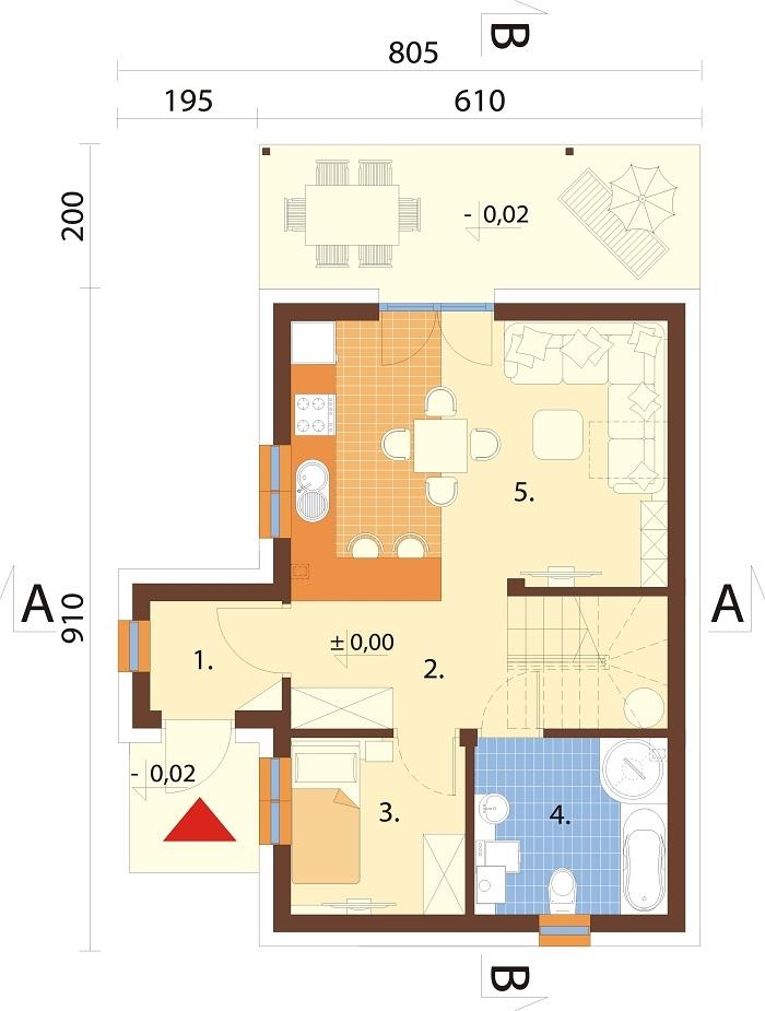 Projekt domu L-6774 - rzut