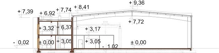 Projekt K-139 - przekrój