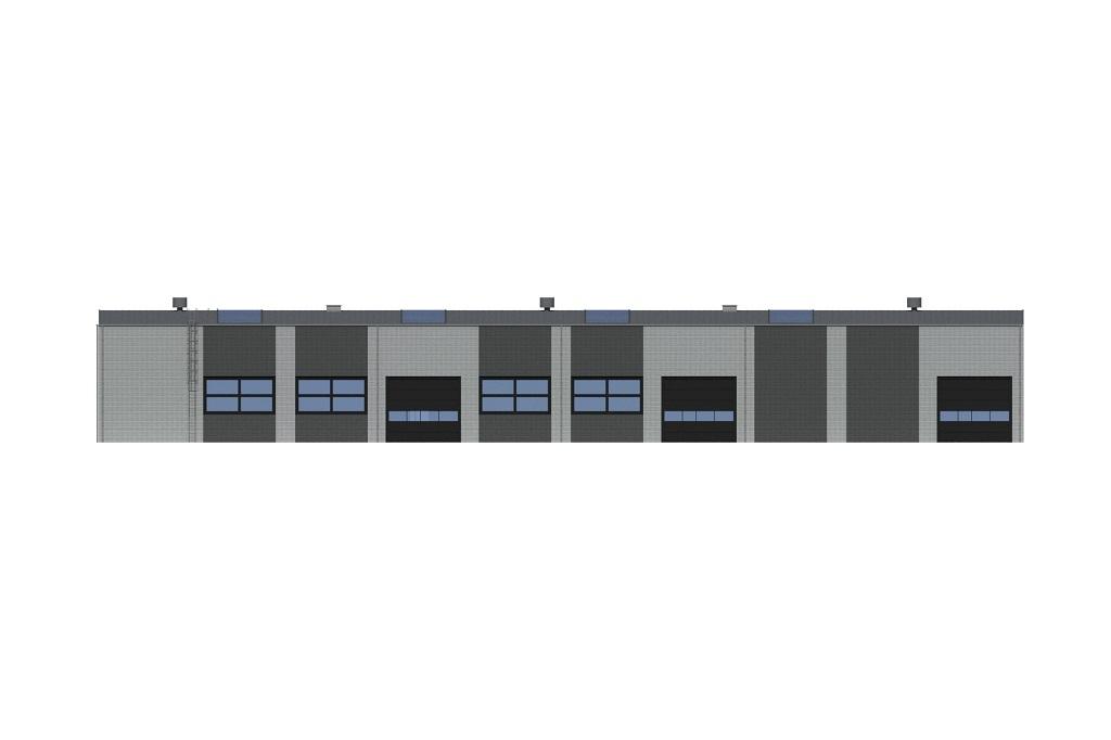 Projekt K-139 - elewacja