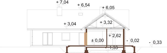 Projekt domu DM-6759 - przekrój